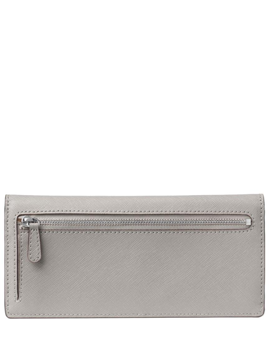 922dffd5c116d Lyst - Michael Michael Kors Jet Set Signature Flat Wallet in Gray