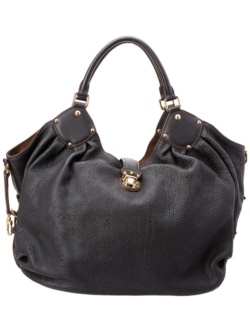 c866d58921 Lyst - Louis Vuitton Black Mahina Leather Large Hobo in Black - Save 12%