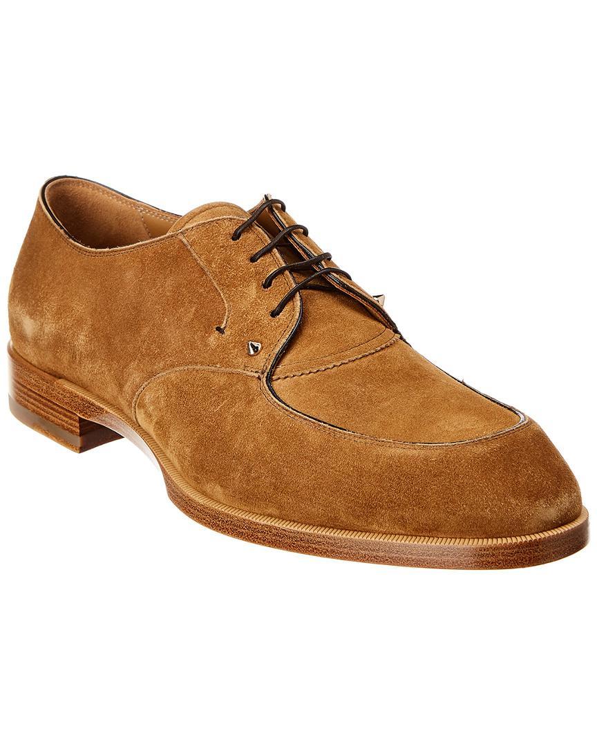 3c0ef37e074 Christian Louboutin Thomas Iii Suede Flat Shoe in Brown for Men ...