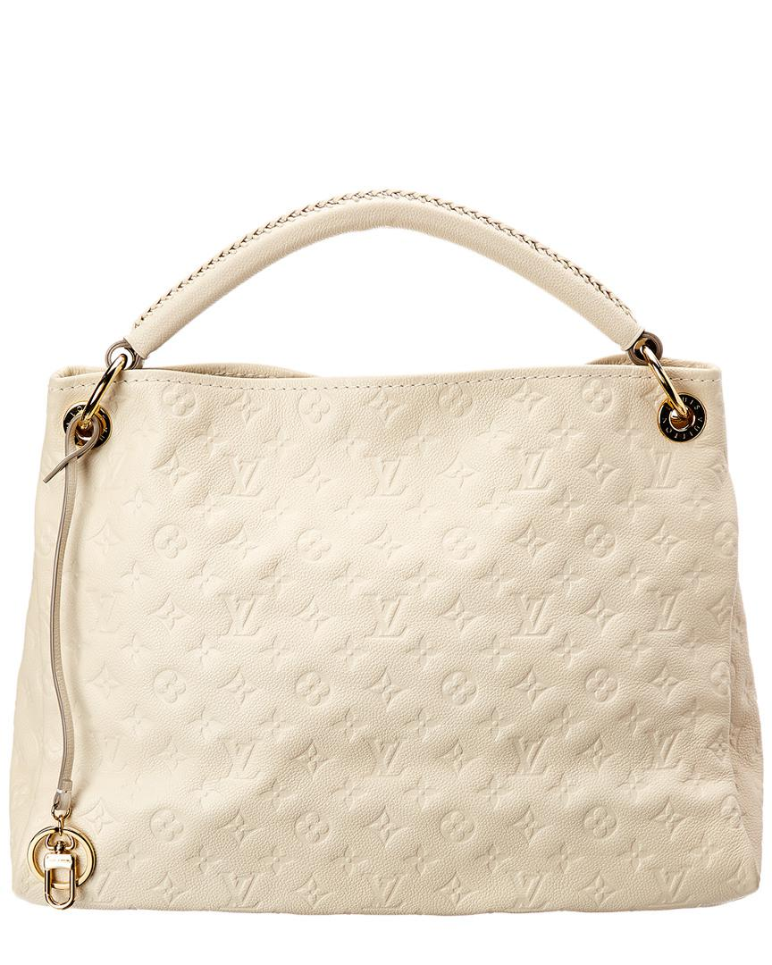 42db620088416 Lyst - Louis Vuitton White Monogram Empreinte Leather Artsy Mm in White
