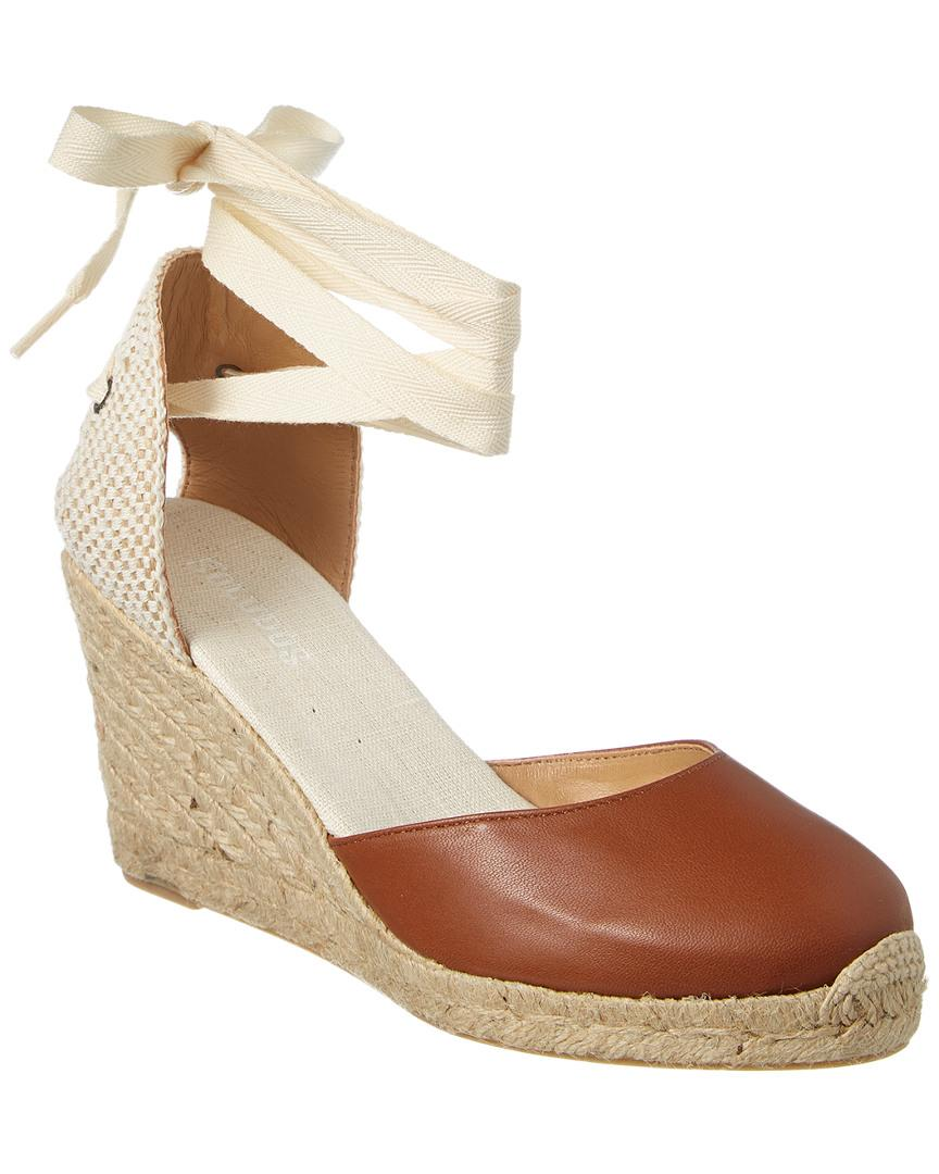 f21af95ca93 Lyst - Soludos Tall Leather Wedge Sandal in Brown
