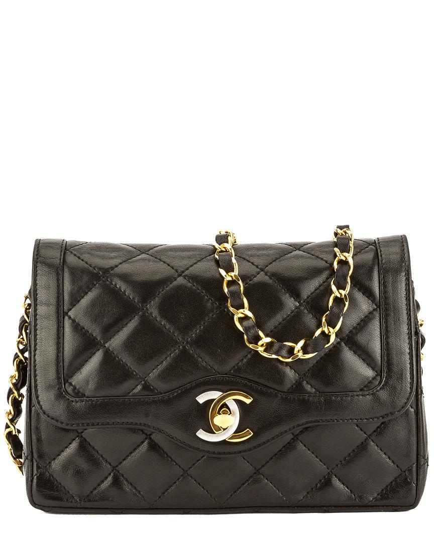 b6f4fbcfbd7a Chanel Black Quilted Lambskin Paris Limited Edition Mini Double Flap ...