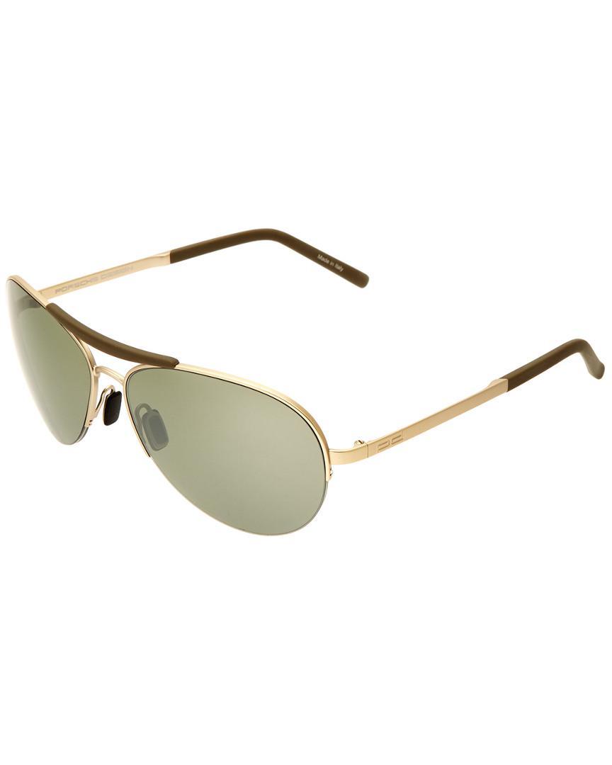 80268c7c2f9 Lyst - Porsche Design P8540 60mm Sunglasses in Metallic for Men