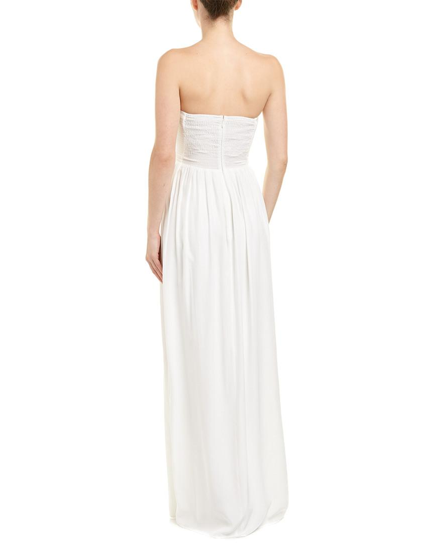 9dfc2e41161 Parker Black Silk Gown in White - Save 36% - Lyst