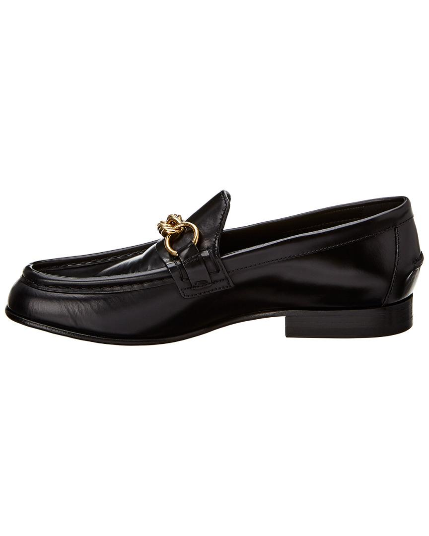 f1d6da8b649 Lyst - Burberry The Leather Link Loafer in Black - Save 19%