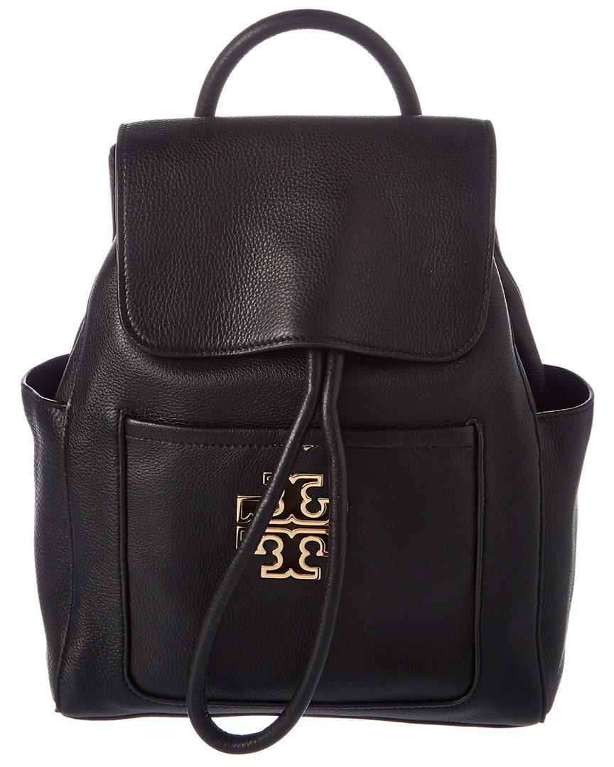 fde9aac3661 Lyst - Tory Burch Britten Backpack in Black