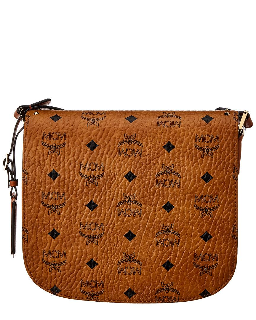 092510d23462 Lyst - MCM Patricia Studded Small Visetos Shoulder Bag in Brown