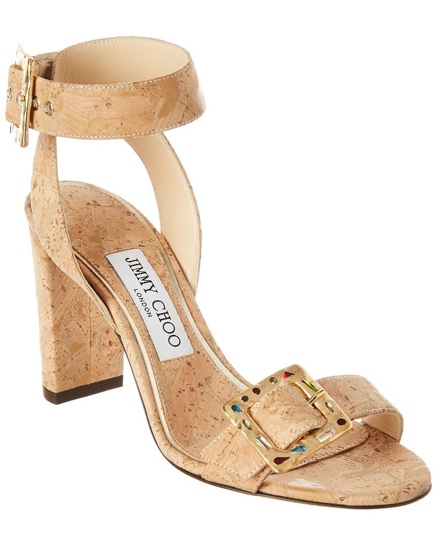 52afec3e1624 Lyst - Jimmy Choo Dacha 85 Cork Sandal in Natural