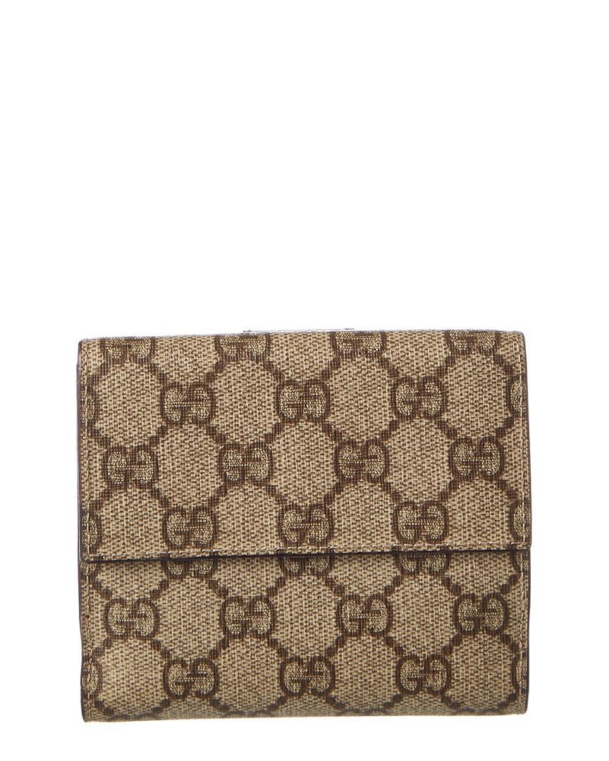 4031086266e Lyst - Gucci Gg Supreme Canvas Compact Wallet
