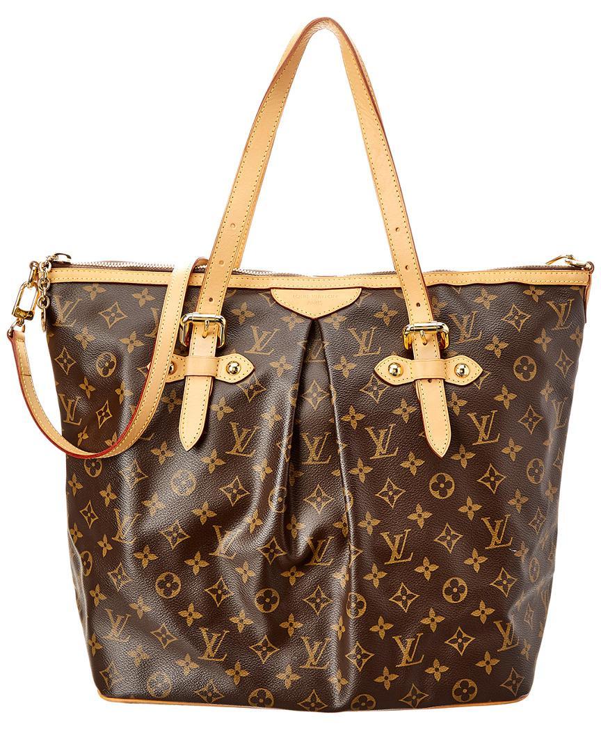 8edf3b8d286a Lyst - Louis Vuitton Monogram Canvas Palermo Gm in Brown - Save 19%