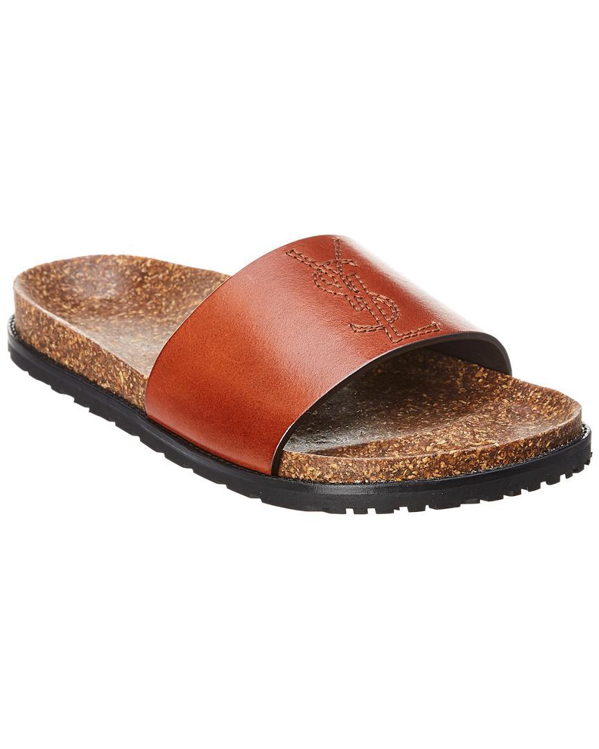 62992b43497 Women's Brown Joan Leather Slide Sandal