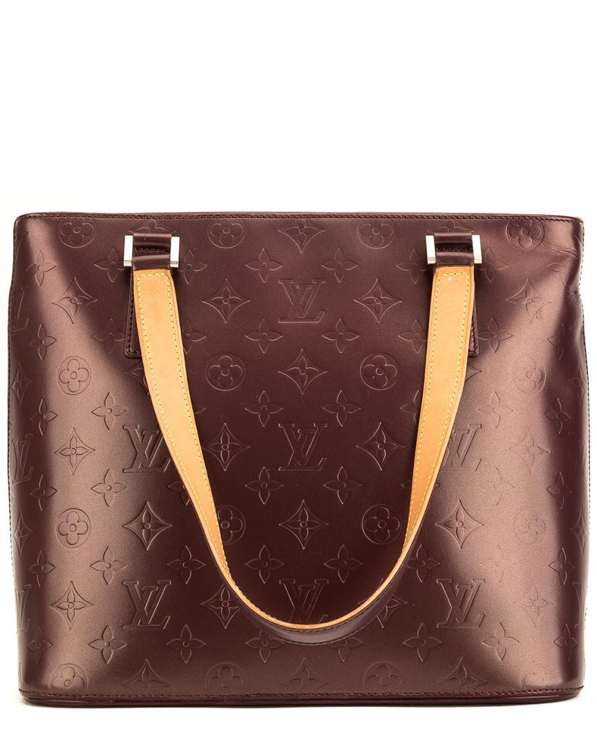df210911267e Lyst - Louis Vuitton Burgundy Monogram Mat Vernis Leather Stockton ...