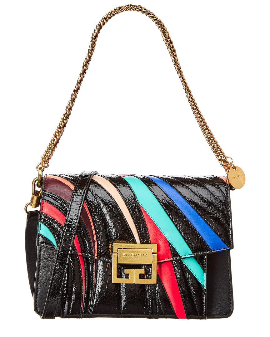 eb5fb344c0 Givenchy - Black Gv3 Small Leather Shoulder Bag - Lyst. View fullscreen