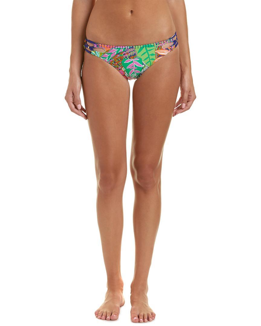 75eef7d260b9a Trina Turk. Women's Pink Tropic Escape California Hipster Bikini Bottom