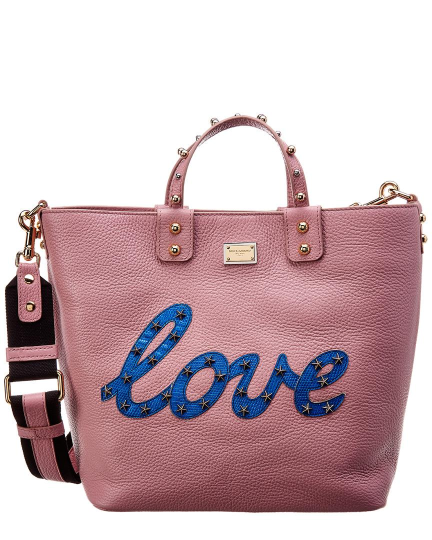 Dolce   Gabbana. Women s Beatrice Love Small Leather Tote ab06973eb2