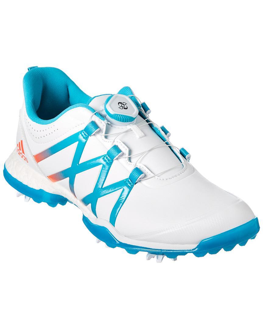 buy popular 5f348 4398d Adidas Originals Adipure Boost Boa Golf Shoe in Blue - Lyst