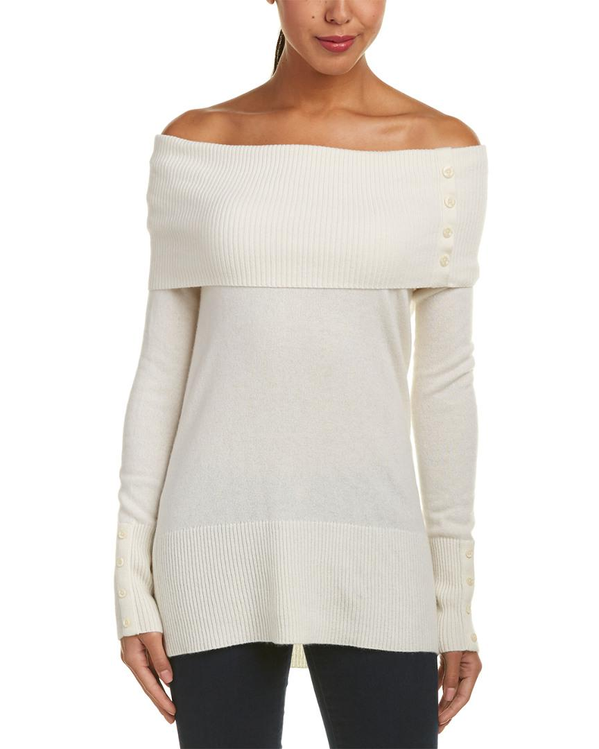 Quinn Cashmere Tunic in White | Lyst