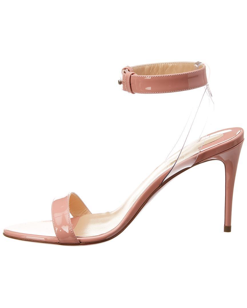 94ea5aa445cc Lyst - Christian Louboutin Jonatina 85 Patent Sandal in Pink