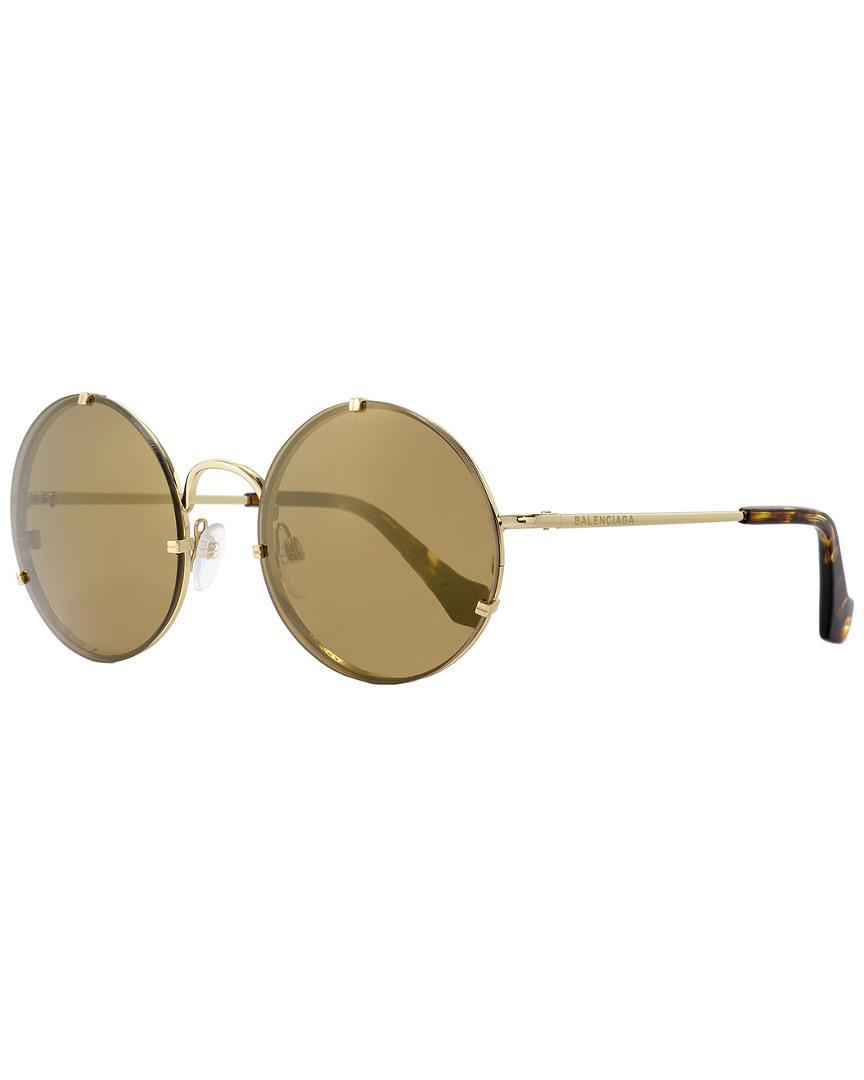 fcf5b631d42 Balenciaga - Brown Ba86 55mm Sunglasses - Lyst. View fullscreen