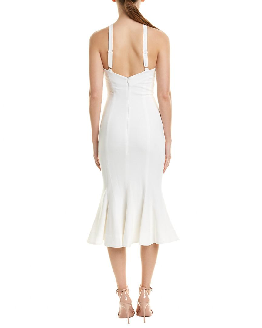 bde5bdb8567da Lyst - Dress the Population Midi Dress in White