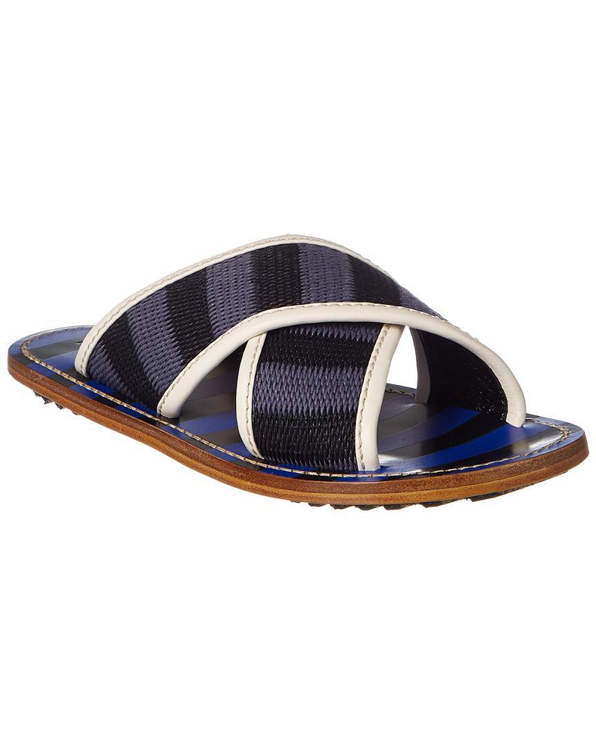 7b3b8bb5019c Lyst - Marni Striped Sandals in Blue - Save 30.075187969924812%