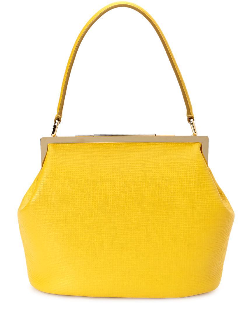 Lyst - Dolce   Gabbana Sara Leather Satchel in Yellow f34cd1f752747