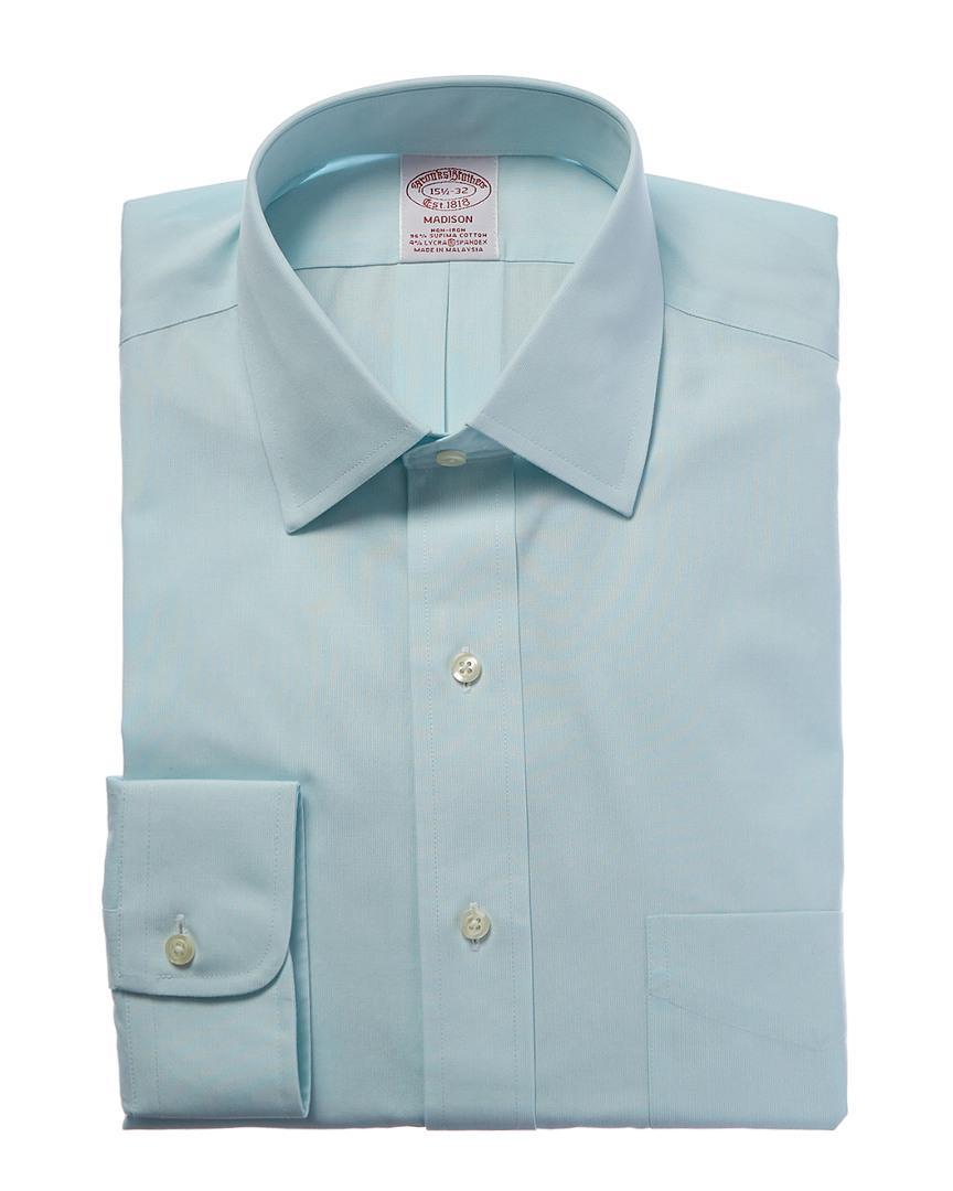 Lyst brooks brothers madison fit dress shirt in blue for men for Brooks brothers dress shirt fit