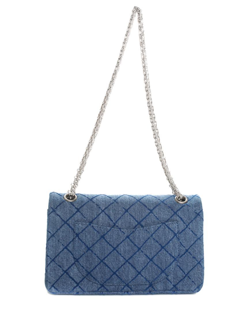 29056eadc59 Chanel Blue Denim Reissue 2.55 Medium Double Flap Bag in Blue - Lyst