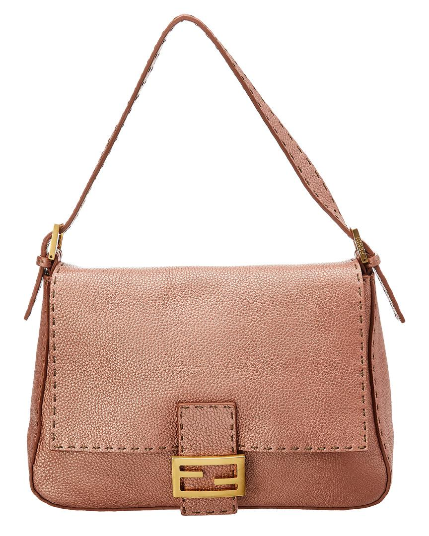 af6ab2635555 Fendi - Pink Metallic Mamma Bag - Lyst. View fullscreen
