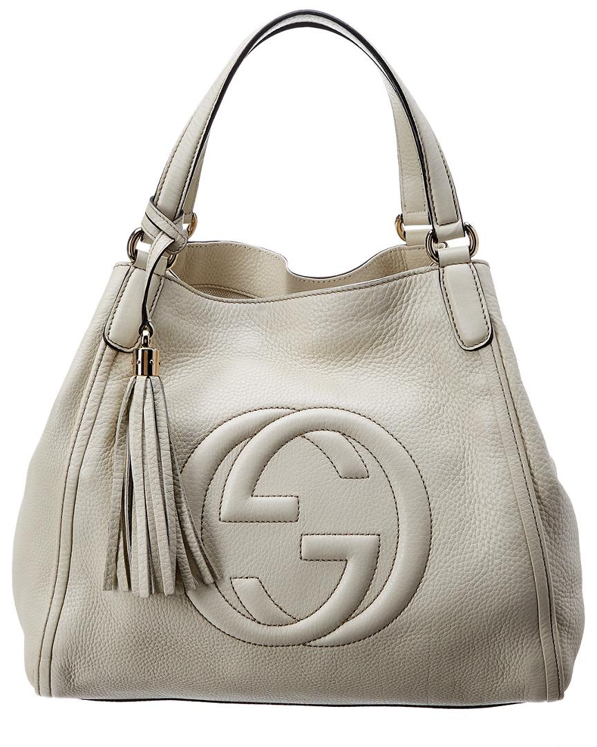 Lyst - Gucci White Leather Soho Bag a40f0a9351158