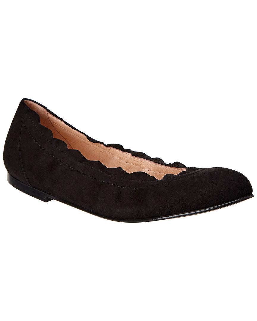 4e9587a38e5 Lyst - French Sole Taylor Suede Flat in Black