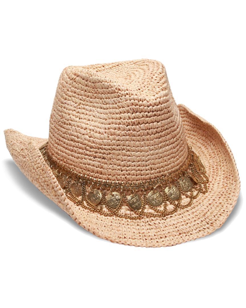 5dab87726f7 Lyst - Gottex Women s Natural   Gold Lira Hat in Metallic