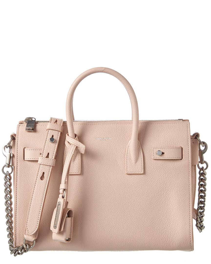971267b5fae4 Saint Laurent Baby Sac De Jour Supple Leather Tote in Pink - Save 34 ...