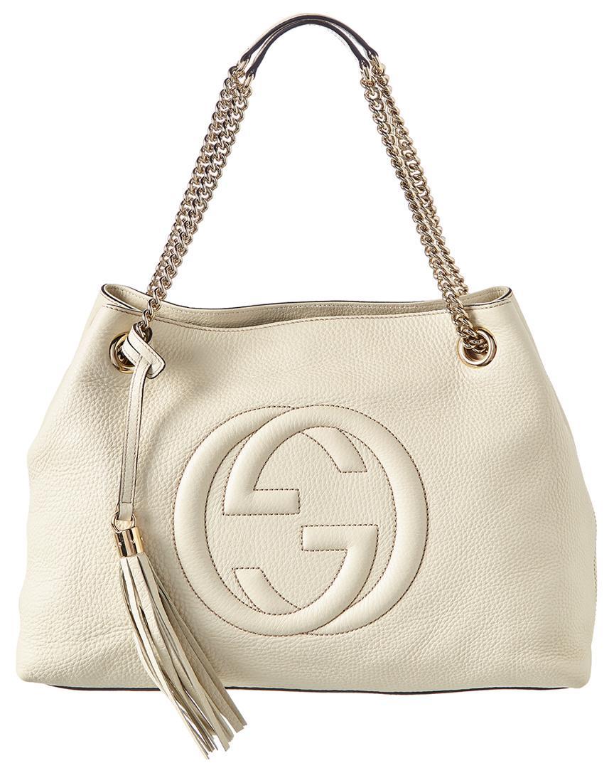 8fd6c6cde Gucci Cream Leather Handbag - Image Of Handbags Imageorp.co