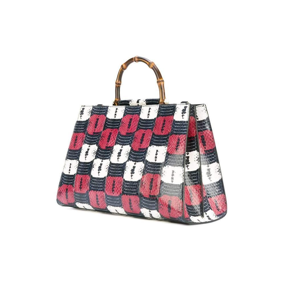 489e53d4655 Gucci - Multicolor Nymphaea Snakeskin Effect Tote - Lyst. View fullscreen