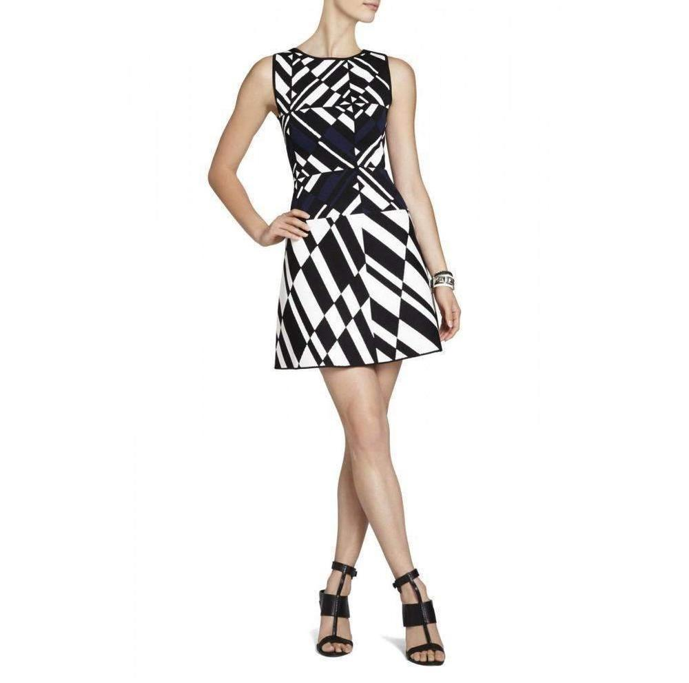 4cce1a23f0a BCBGMAXAZRIA. Women s Black Jo Geometric Jacquard Dress.  201 From Runway  Catalog