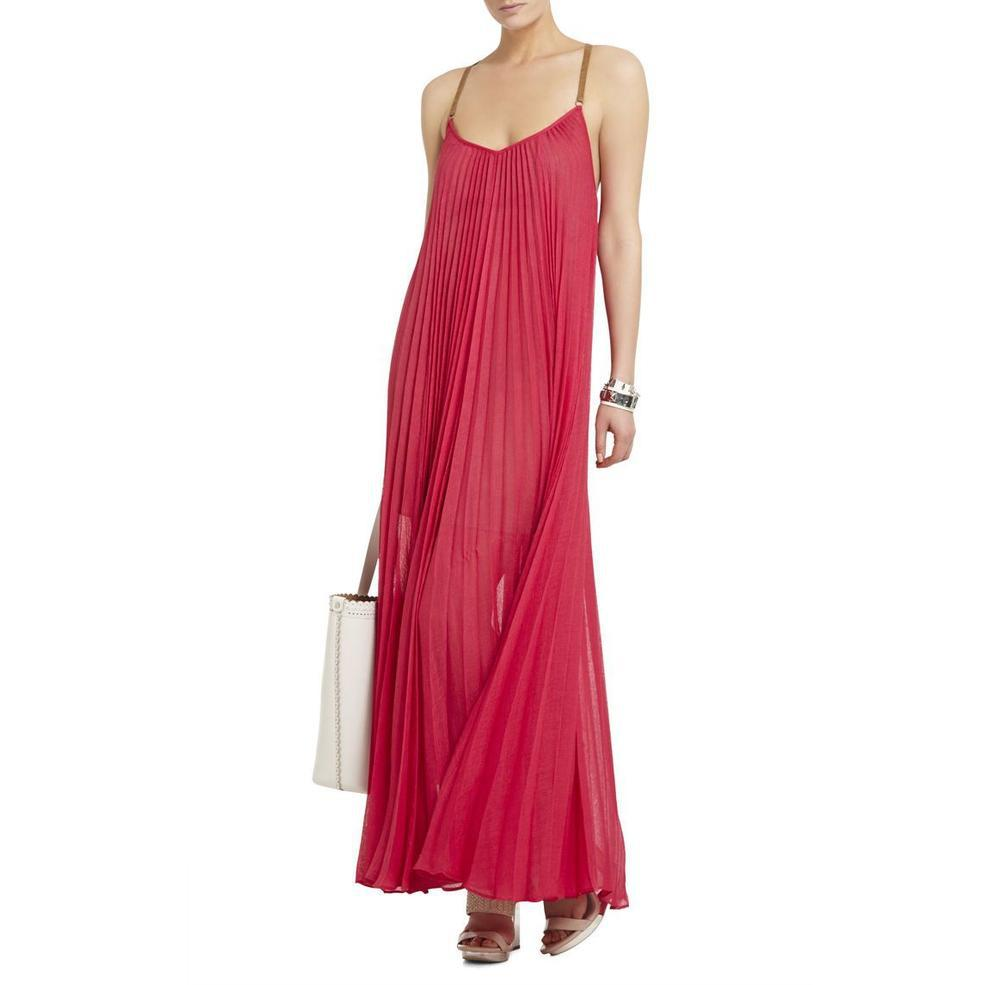 e0fe3cc7fe Lyst - Bcbgmaxazria Brynna Pink Sleeveless Maxi Dress in Pink