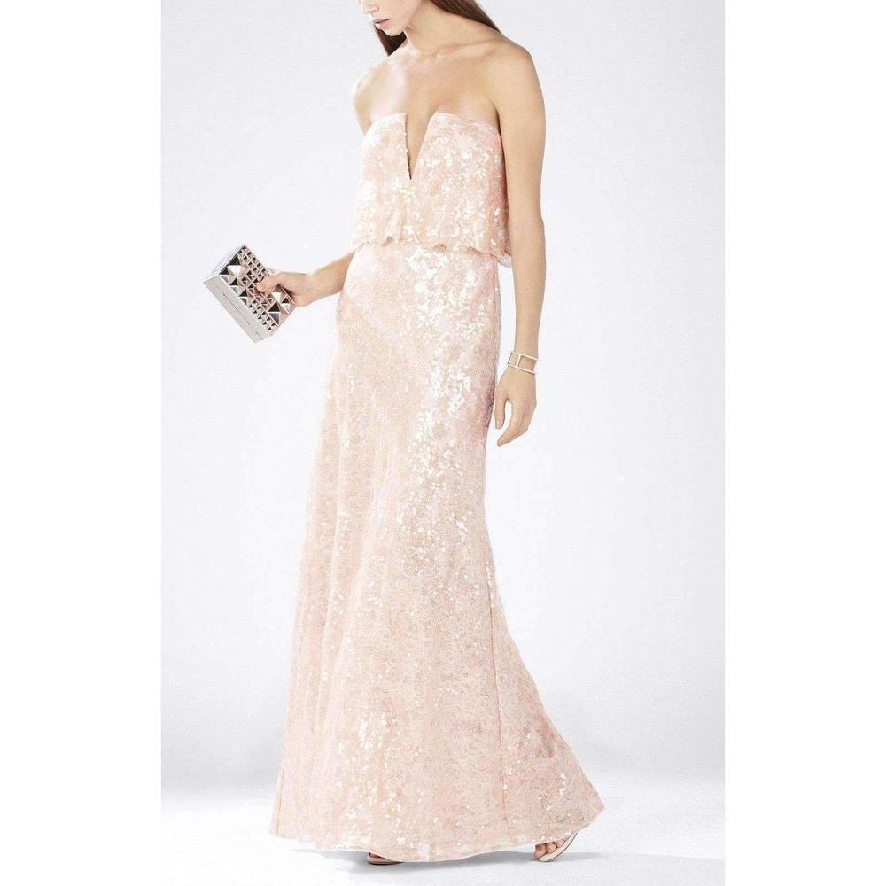 5f20cffaeba6 BCBGMAXAZRIA - Pink Alyse Strapless Scallop Bodice Dress - Lyst. View  fullscreen