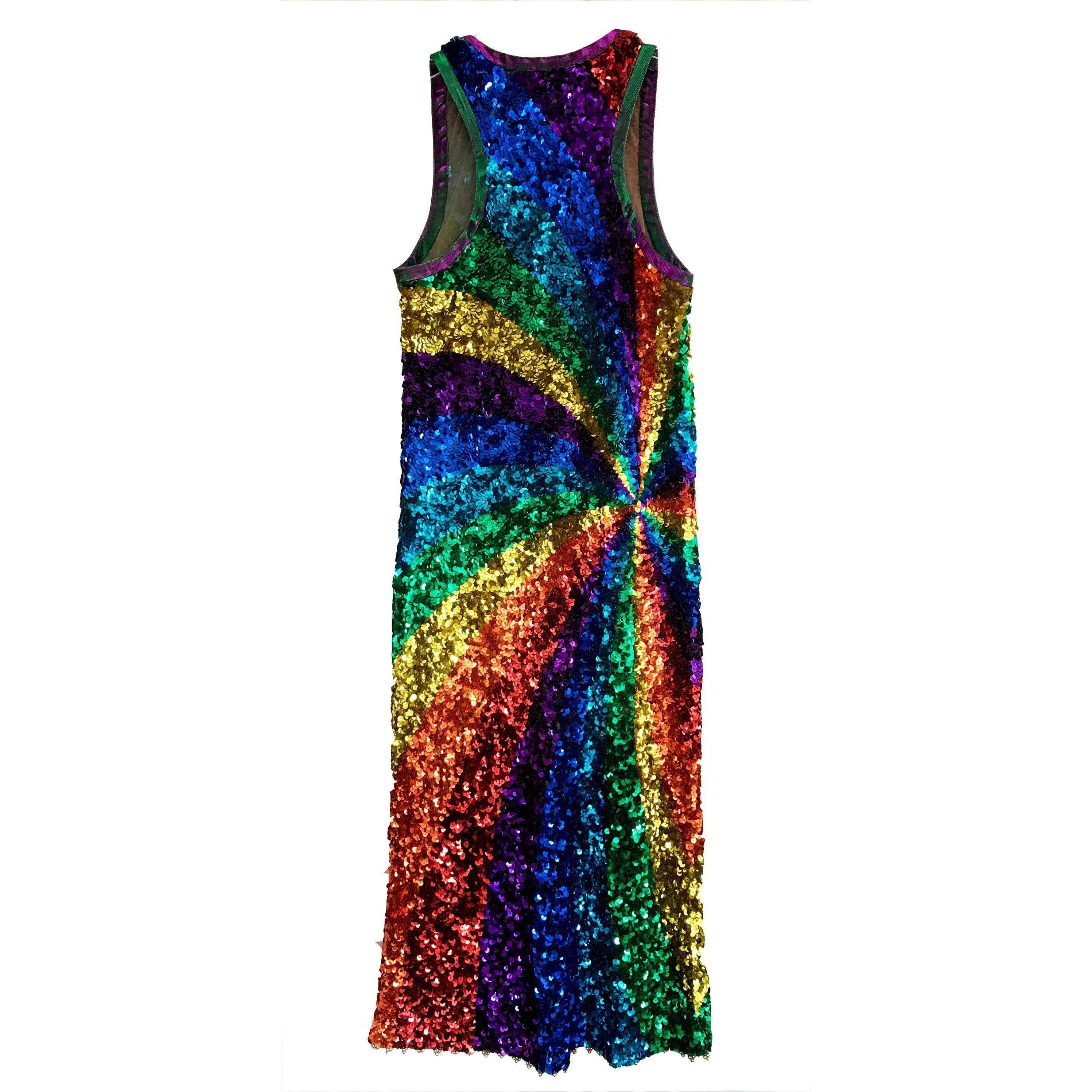 Vestido Arora De Lentejuelas Manish Rainbow Runway Lyst VUqzMpGLS