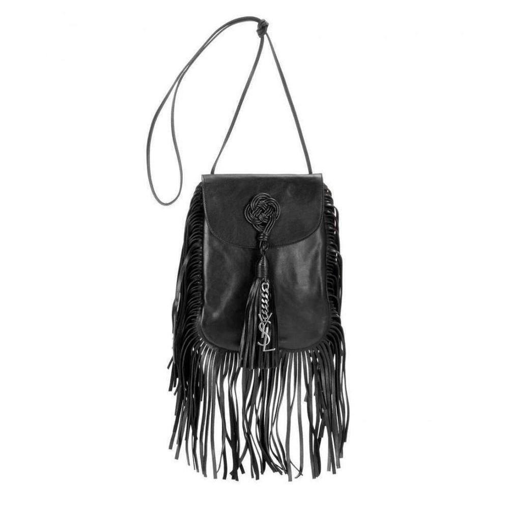 0e9fd93405 Saint Laurent. Women s Black Saint Laurent Anita Fringe Leather Shoulder Bag