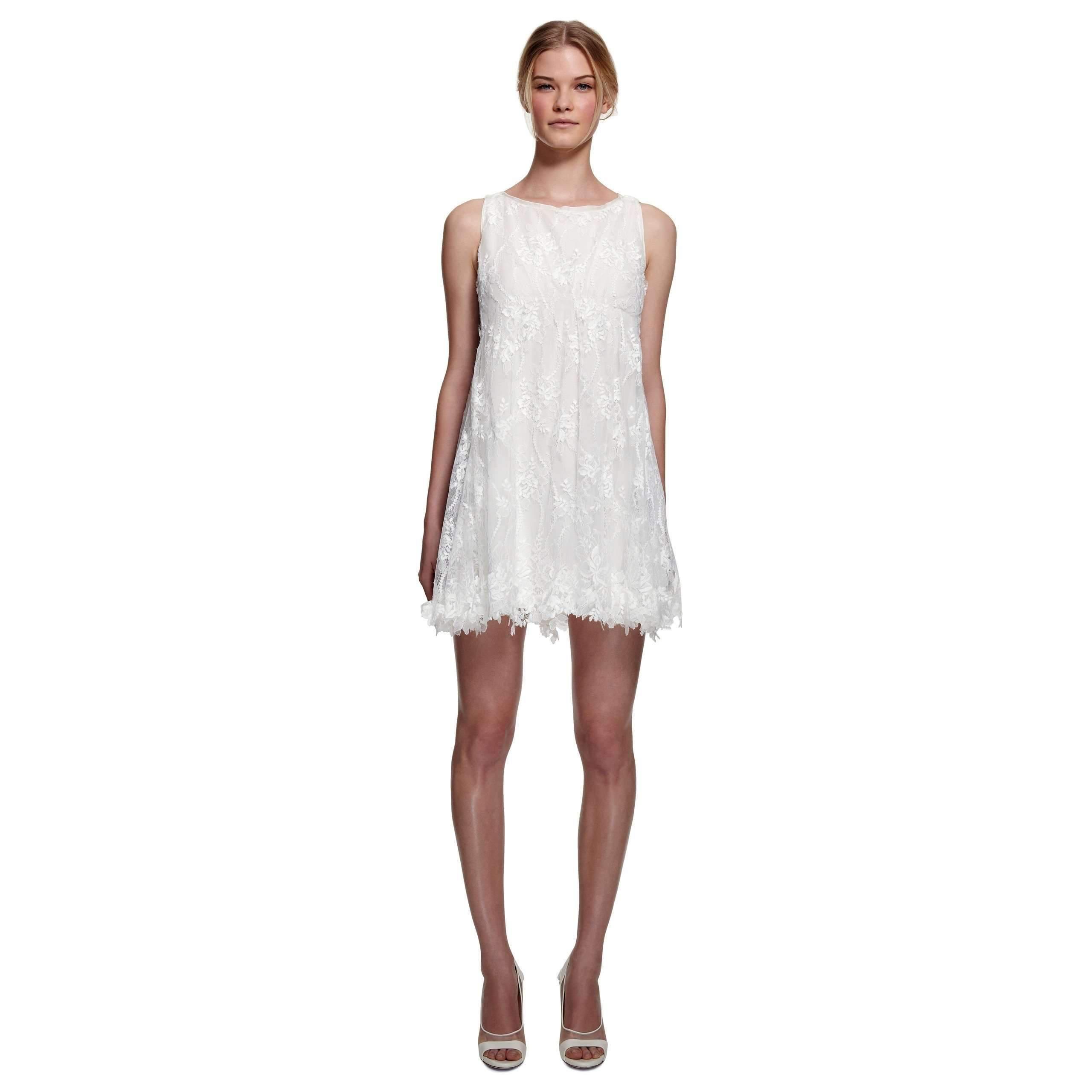 72b2522dae Nina Ricci Runway Bridal White Lace Dress in White - Lyst