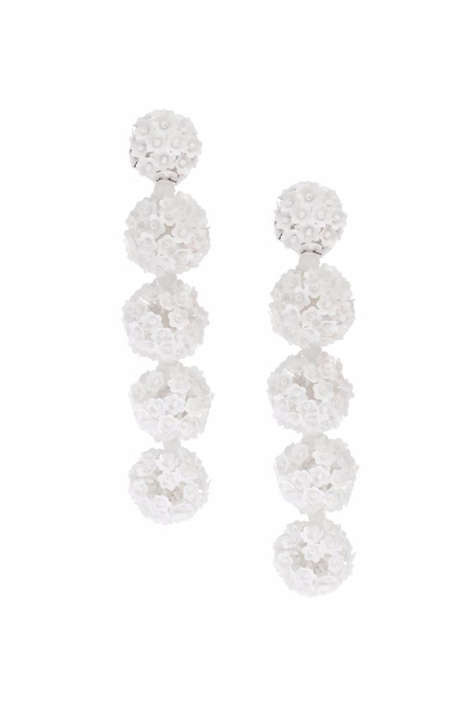 Sachin & Babi Fleur Bouquet earrings - White