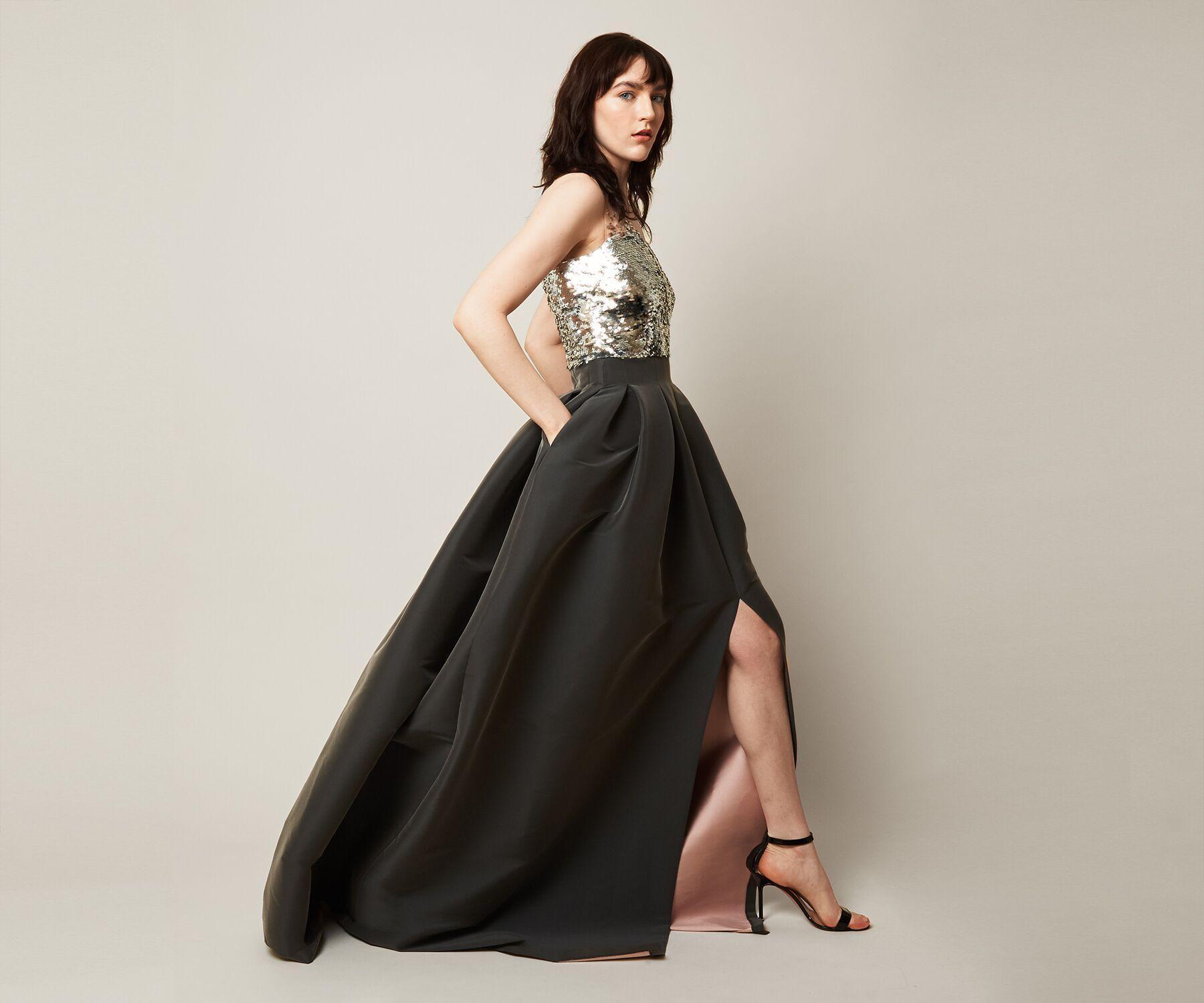 38c4d2626aa4 Sachin & Babi Elle Gown in Gray - Lyst