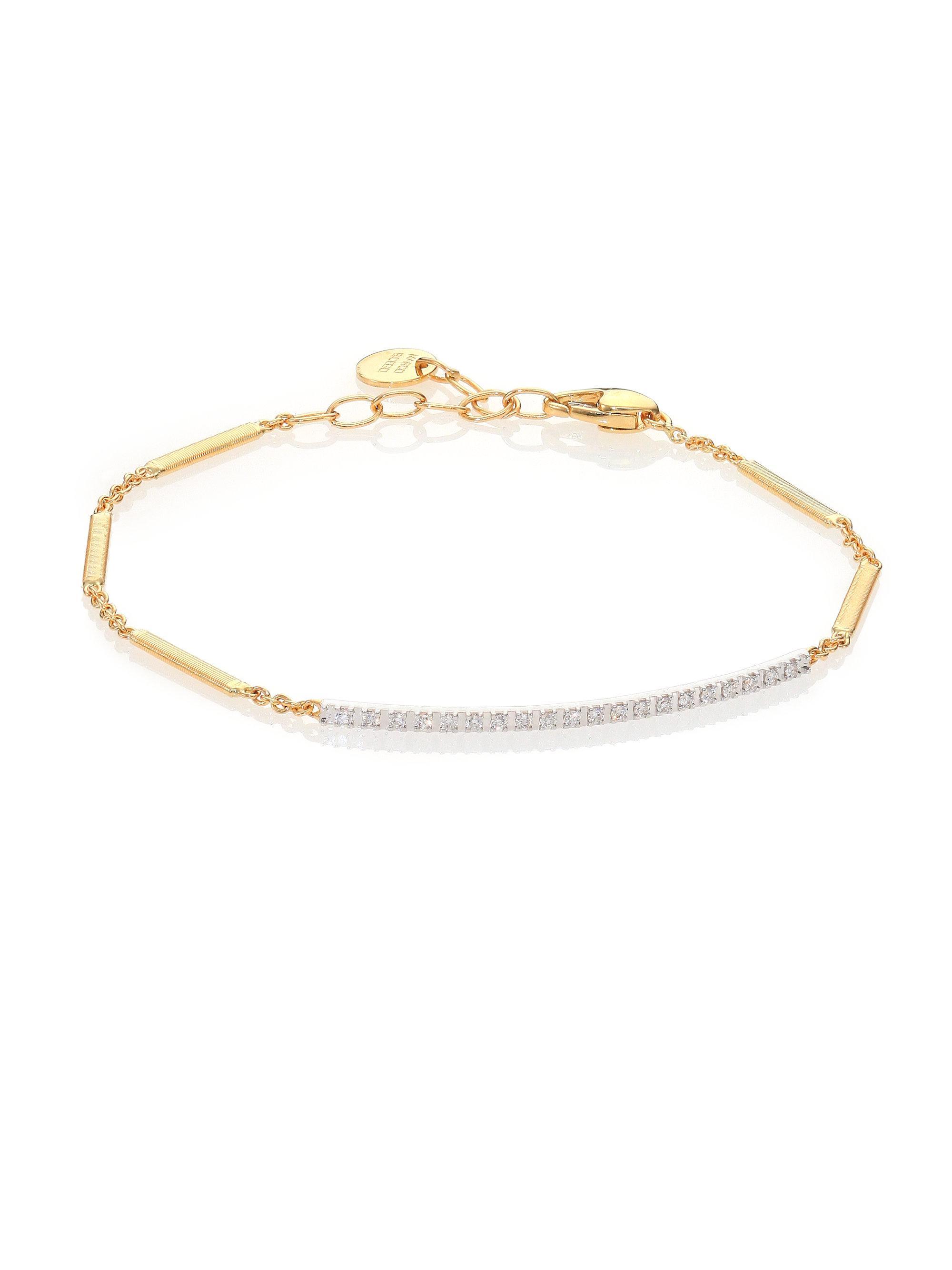 Marco Bicego Women S Metallic Goa Diamond 18k Yellow Gold White Bracelet