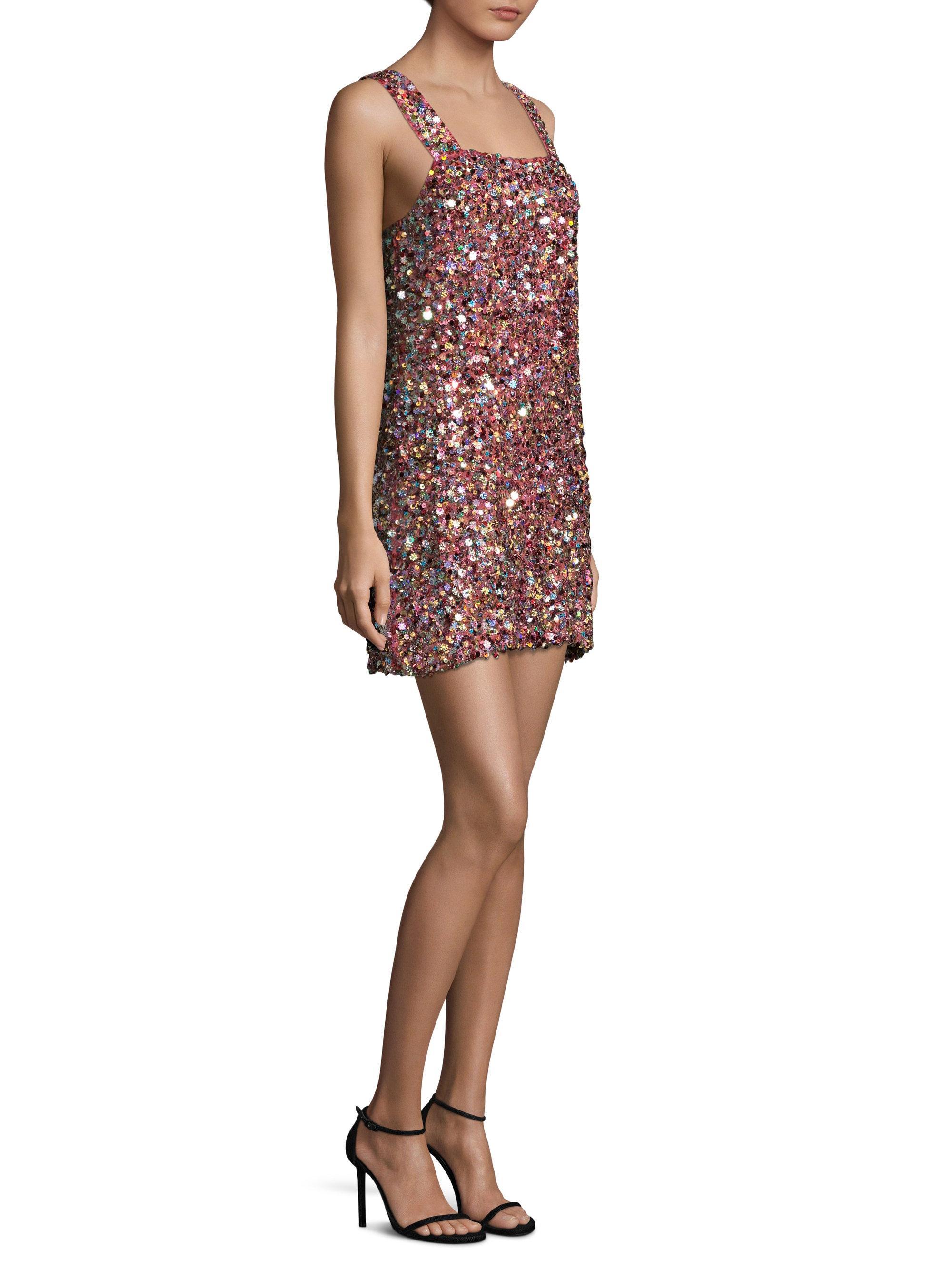 de mini seda con multicolor talla Alexis lentejuelas L Vestido w5OtqE