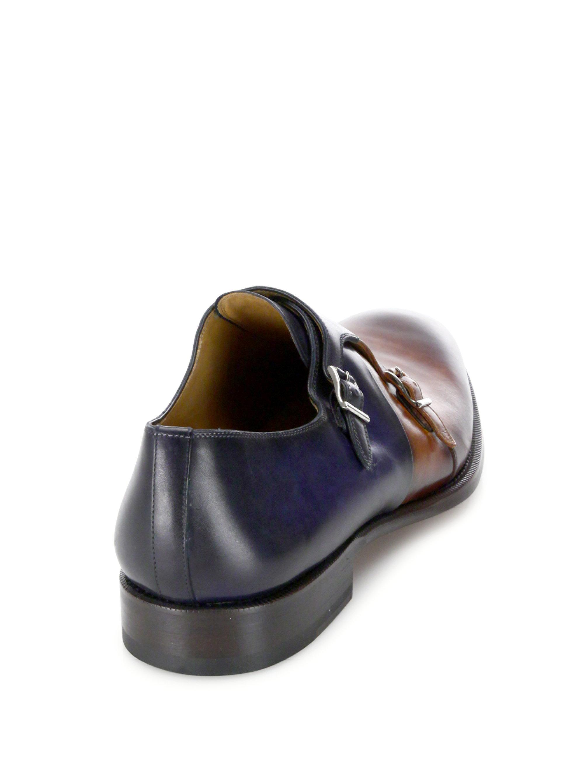 Saks Fifth AvenueCOLLECTION BY MAGNANNI Leather Double Monkstrap Loafers h0dyzf