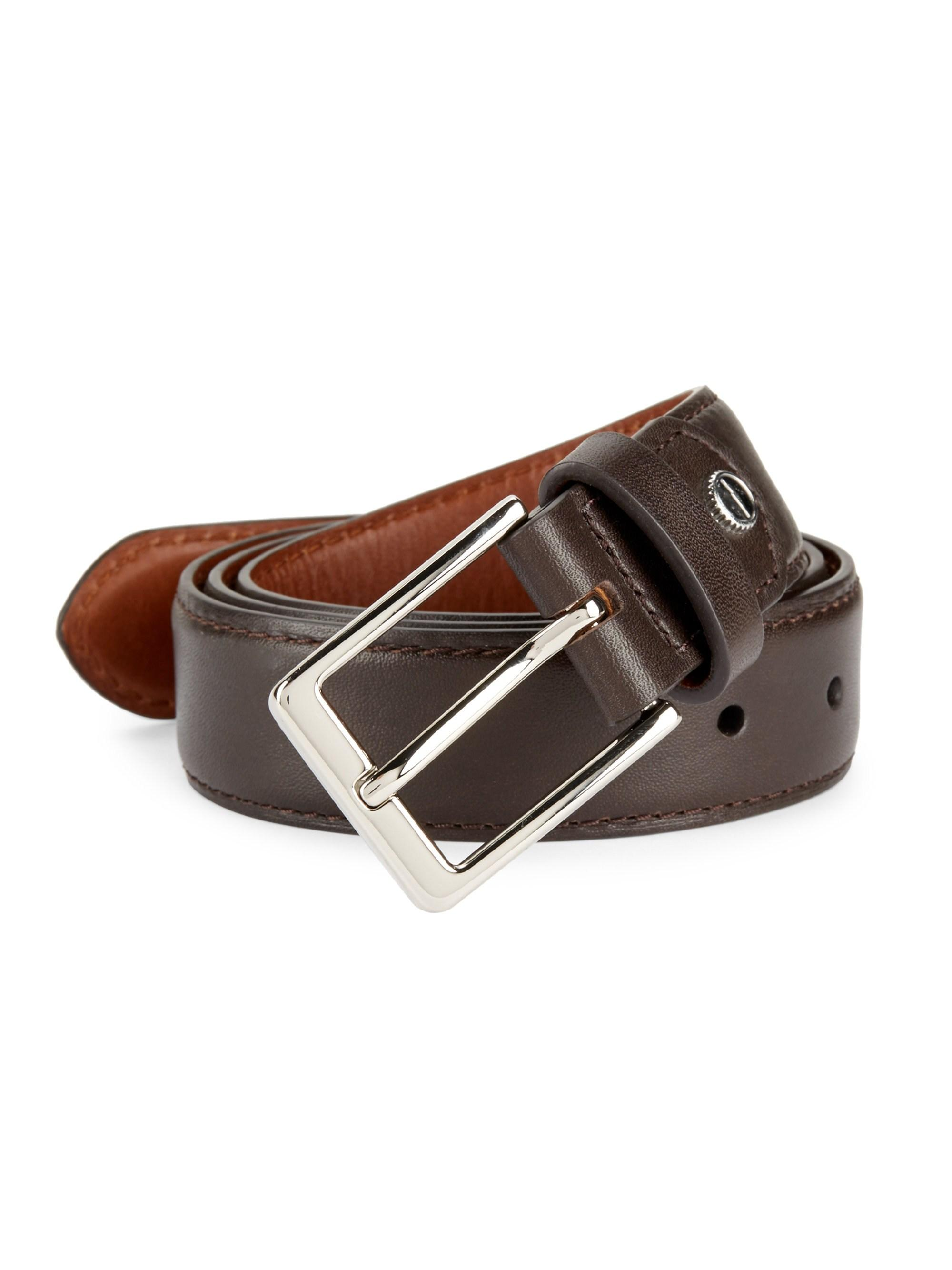 2236a4a3916 Shinola Bomb Beta Leather Belt in Brown for Men - Lyst