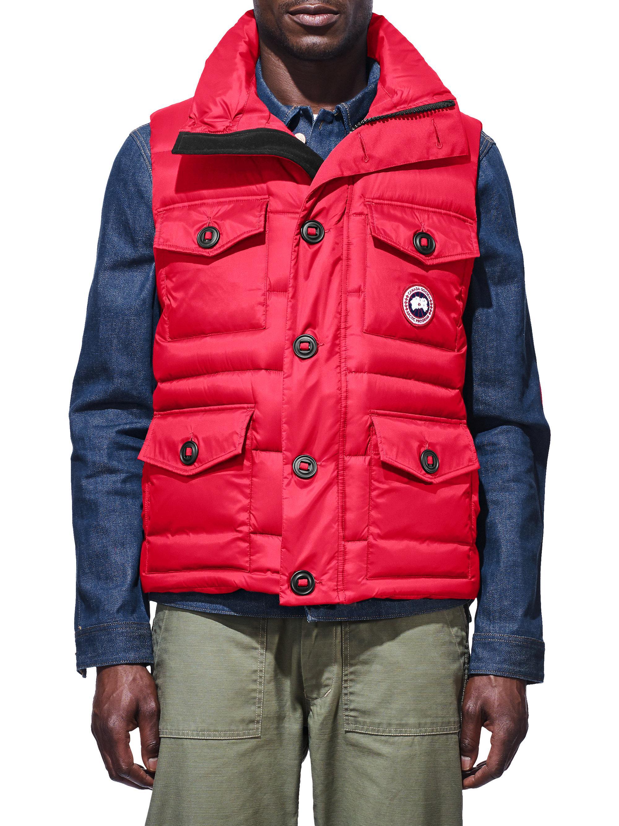 canada goose garson vest red