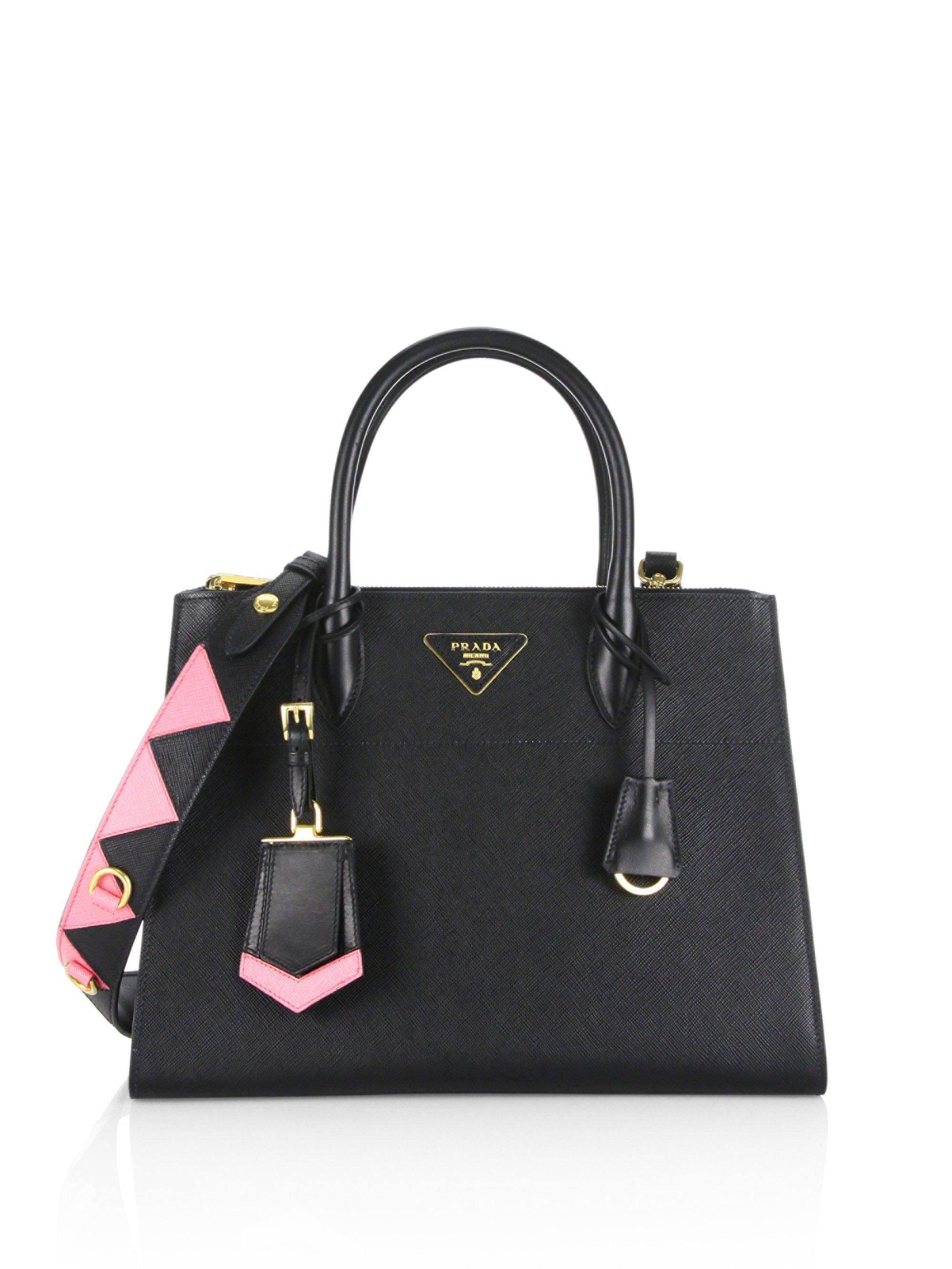 c384cd2cd03d Prada Paradigme Saffiano Leather Tote in Black - Lyst