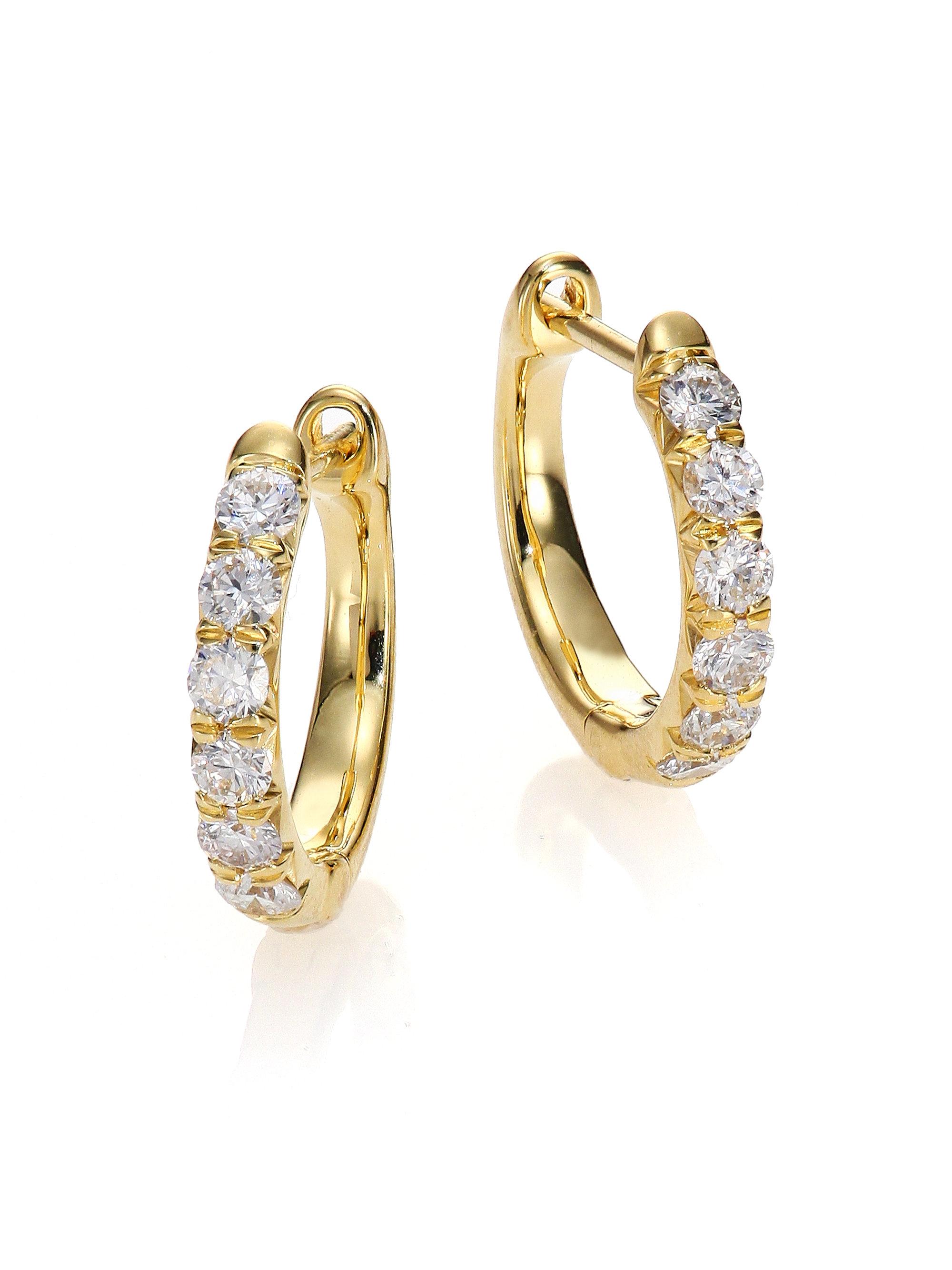 Jude frances Jude Diamond & 18k Yellow Gold Huggie Hoop Earrings